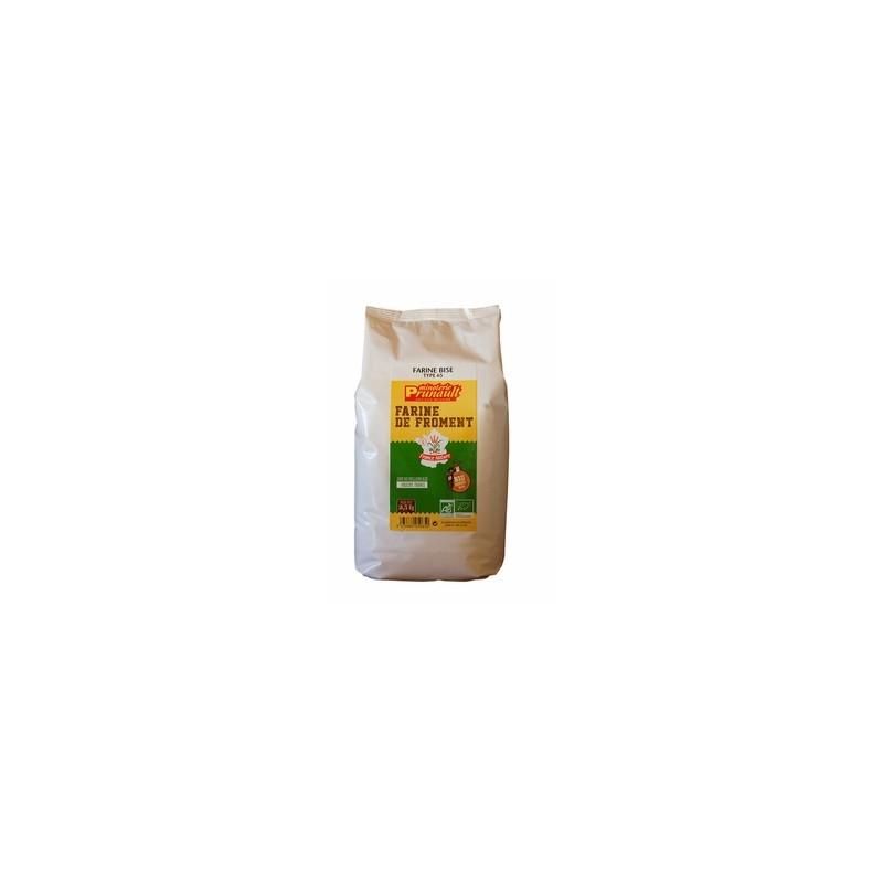 Boulangerie-Farine de blé BIO - T65- 2kg500-MINOTERIE PRUNAULT