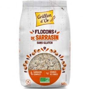 Produits Bio-Flocons de sarrasin bio- 500 g-GRILLON D'OR