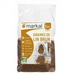 Produits Bio-Graines lin brun bio - 250 g-BIODIS