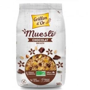 Produits Bio-muesli chocolat bio - 500 g-GRILLON D'OR