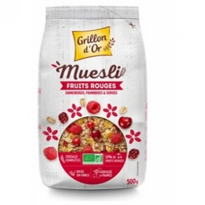 Produits Bio-muesli Fruits rouges bio - 500 g-GRILLON D'OR