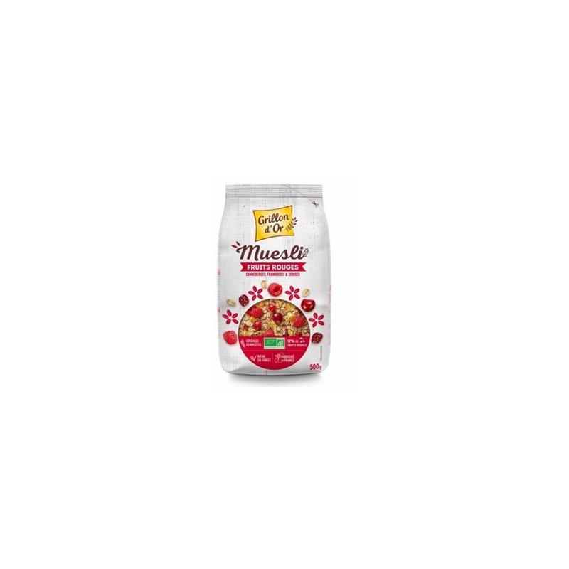 Produits Bio-muesli Fruits rouges bio - 500 g-GRILLON D'OR