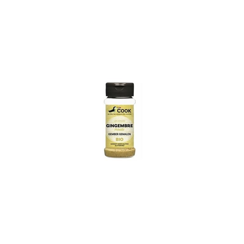 Produits Bio-Gingembre poudre bio - 30 g-BIODIS