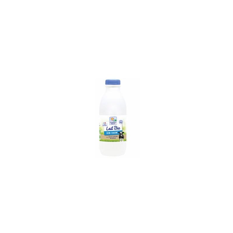 Le frais-Lait UHT (bouteille) demi-écrémé bio - 1 l-BIODIS FRAIS