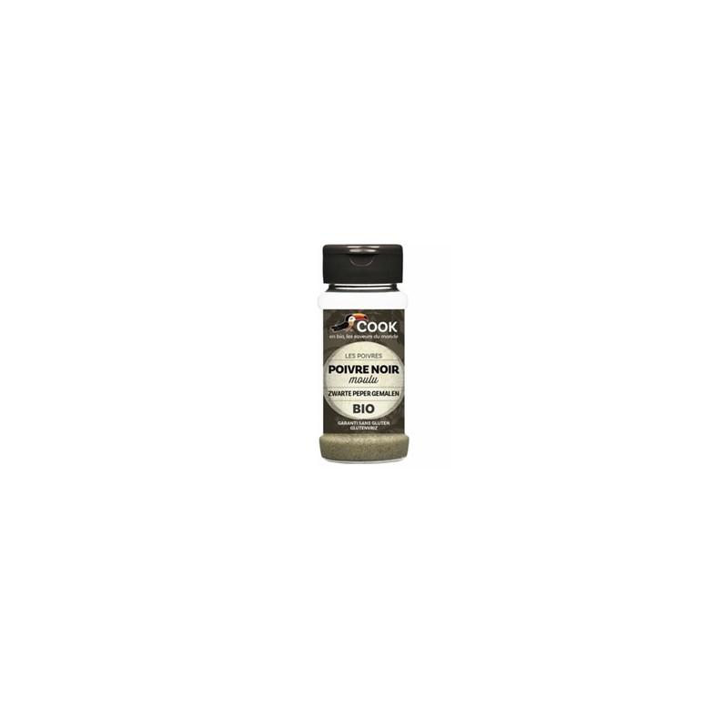 Produits Bio-Poivre noir poudre bio - 45 g-BIODIS