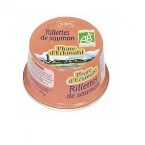 Poissonnerie-rillettes de saumon bio - 120 grs-BIODIS