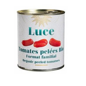 Légumes prêts à l'emploi-Tomates bio entières pelées -800 grs (boite)-BIODIS