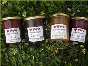 Confitures, crêpes et galettes bio-Confiture de fraise - Pot grand format 900 g-LES 4 GOURMANDS