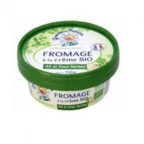 Tartinables frais, crèmes-Fromage à tartiner bio- Ail et Fines herbes 150 Grs-BIODIS FRAIS