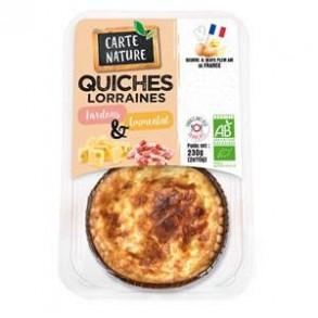cuisine rapide-Quiche lorraine bio-2 parts-BIODIS FRAIS