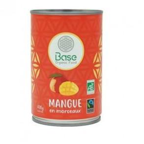 Coulis , compotes et purée de fruits-Mangue morceaux- 210 g-BIODIS