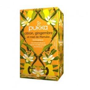 Produits Bio-Infusion citron-gingembre-miel-20 sachets-BIODIS