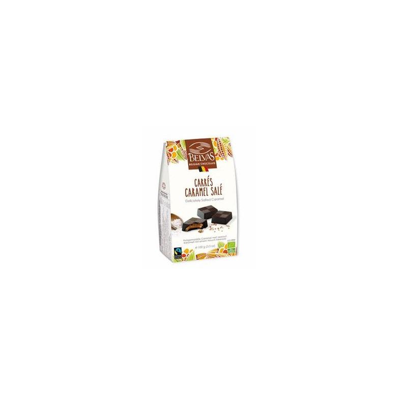 Produits Bio-Carré caramel, chocolat - bio- 100 g-BIODIS