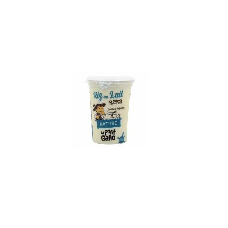 Le frais-Le riz au lait biologique 500 g-LE P TIT GALLO