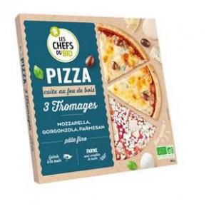 Pizza et pâtes bio-Pizza bio 3 fromages- 400 grs-BIODIS FRAIS