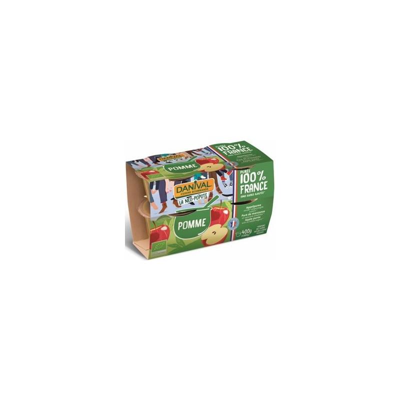 Compotes et purée de fruits-Purée pomme bio - 4*100 grs-BIODIS