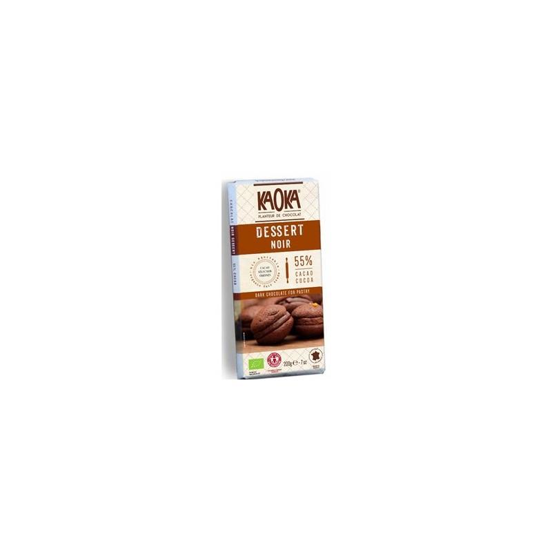 Aide à la pâtisserie-Chocolat noir dessert 55% cacao (bio)- 200 g-BIODIS