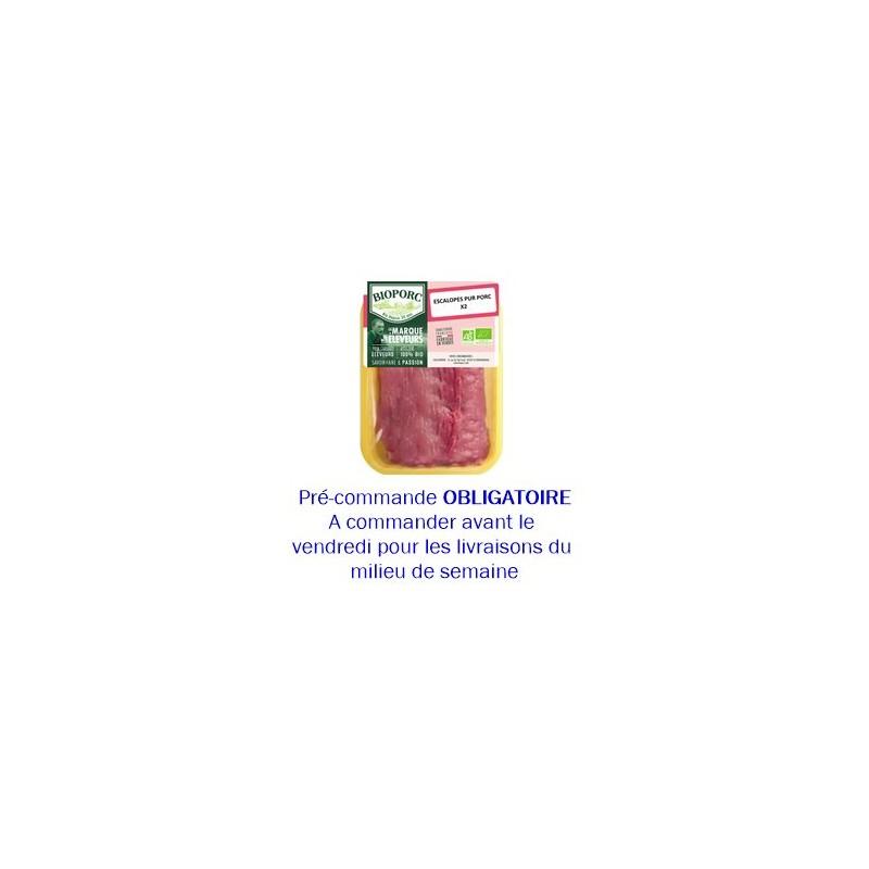 Escalopes, filets, côtes et grillades-Escalope de porc bio par 2- Env. 220 grs-BIOPORC