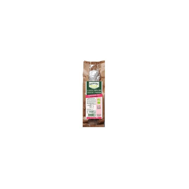 charcuteries sèches-Saucisson sec bio- 200 grs-BIOPORC