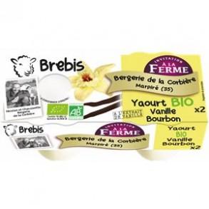 Les yaourts (brebis)-Yaourt fermier vanille bourbon -brebis-BERGERIE DE LA CORBIERE