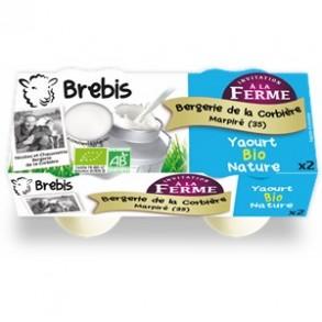 Les yaourts-Yaourt fermier nature bio-Brebis-BERGERIE DE LA CORBIERE