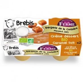 Le frais-crème dessert caramel bio-Brebis-BERGERIE DE LA CORBIERE