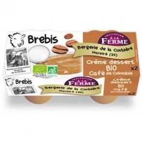 Le frais-Crème dessert café bio-Brebis-BERGERIE DE LA CORBIERE